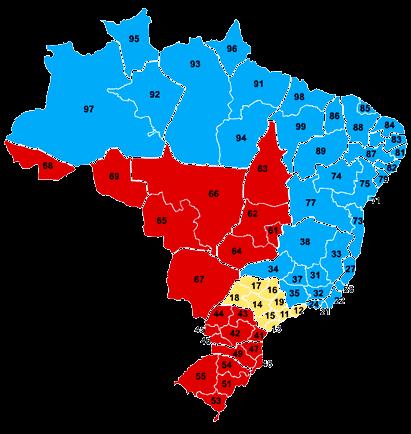 Codigo Areas DDD interurbanos Brasil