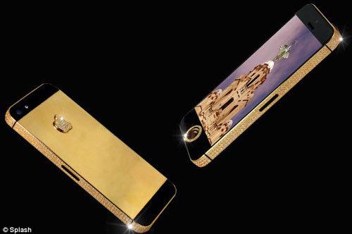 iphone5 de ouro e diamantes